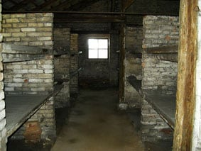 Auschwitz barracks