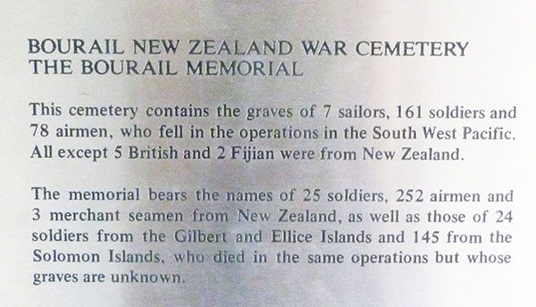 WWII cemetery New Caledonia