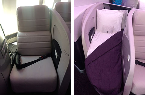 Dreamliner business class seats