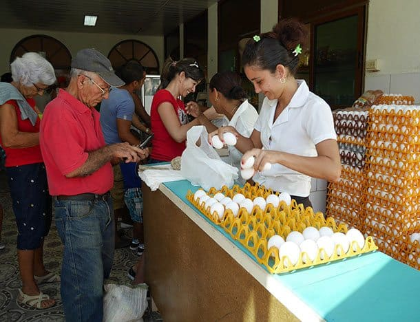 Buying eggs Cuba