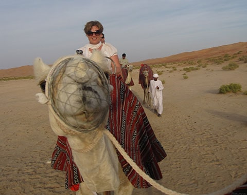 Camel ride Oman