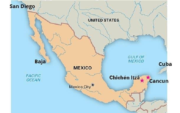 Mexico Visit Chichen Itza Site Of The Cruelest Game In The World - Chichen itza map