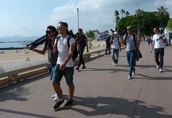 Cannes film crew