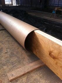 Cardboard cathderal tubing