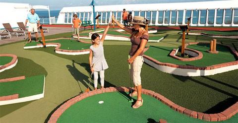 Carnival cruise mini golf