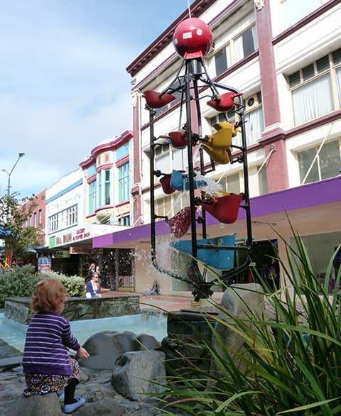 Cuba street bucket sculpture