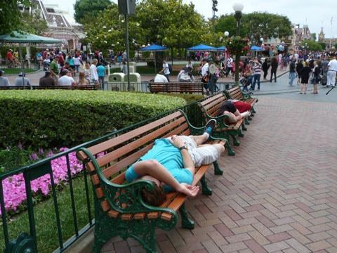 Sleeping at Disneyland