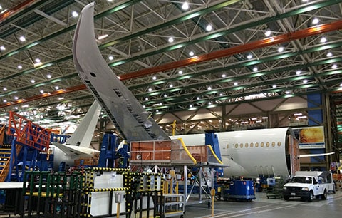 Dreamliner wing