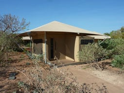 Eco Beach Resort tent