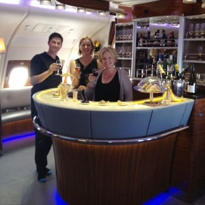 Emirates A380 bar
