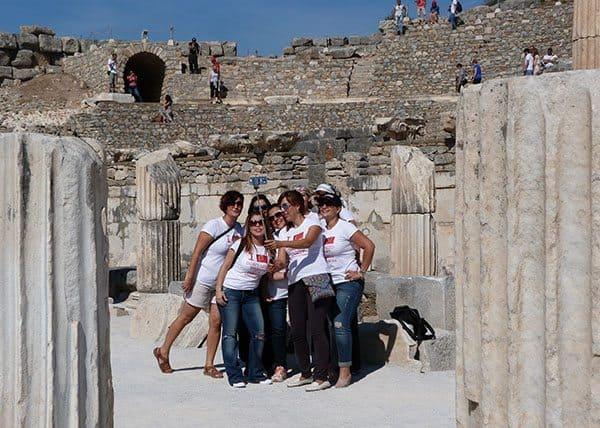 Ephesus selfies