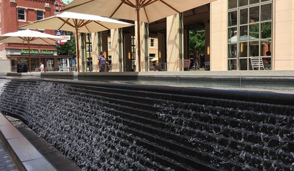 Sundance Square water feature