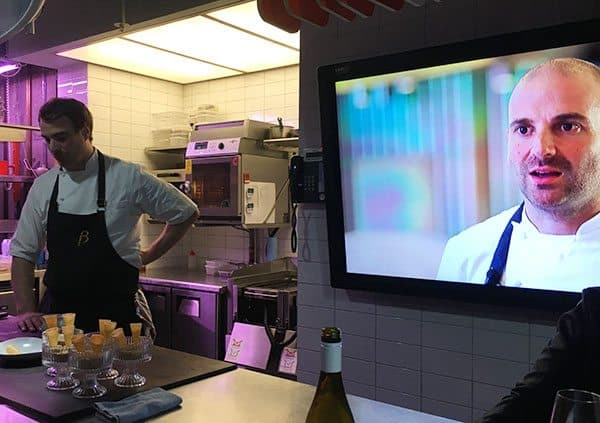 This is about the closest I will come to Master Chef and I'm thankful that, like Australia's celebrity chef George Calombaris, I too am the judge. The little Greek Master Chef judge is owner of The Press Club, 72 Flinders Street, a small restaurant seating only 32 happy diners in curved leather booths under pools of kidney shaped lighting with a narrow aisle up the middle where the staff march. At dinner time it's a set degustation tasting menu (a la carte for lunch). The food here is creative, quirky, a little molecular gastronomy (meaning you won't try this at home) and will astound you as each course arrives. Press Club Melbourne The Press Club is housed in the old Herald building (Pic Visit Melbourne) BUT next door is The Press Club Projects. This is a dining experience like none I have had before. This is a private table where George's development chef Reuben and his team experiments as you sit around his work station watching him squirt, swipe, sprinkle, scorch, pour, freeze and plate up some crazy ideas and inspiration like pieces of art. With machinery sitting on the bench behind us responsible for freeze drying, separating liquids into essences, steaming and what-not, it was an eye-opening evening tickling more than just my taste buds. I loved asking questions, learning some tricks and being inspired to create a modicum of mimicry as I enjoyed a wine matched with each (most) course. Here is what we ate - but when you go it'll be different, whatever takes the fancy of the chef on the night. Price ranges from $95 for four courses to $195 for nine. Press Club Projects Melbourne Press Club Projects Melbourne Press Club Projects Melbourne Press Club Projects Melbourne Press Club Projects Melbourne Press Club Projects Melbourne Press Club Projects Melbourne Press Club Projects Melbourne Press Club Projects Melbourne Press Club Projects Melbourne Press Club Projects Melbourne Press Club Projects Melbourne