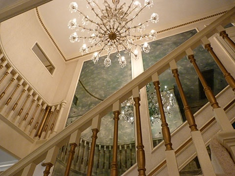 ... and gaze at the chandelier, wondering what is hidden up there