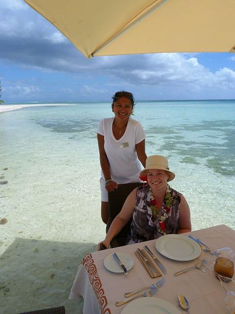 motu lunch Hilton Bora Bora
