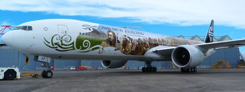 Air New Zealand hobbit plane