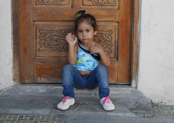 Little girl in Cuba