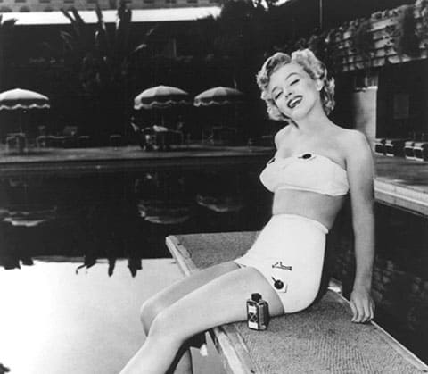 Marilyn Monroe on diving board Roosevelt