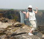 Leaping off Victoria Falls