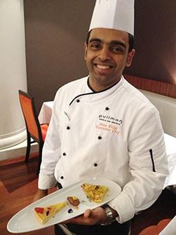 Pullman chef Aran Pillai
