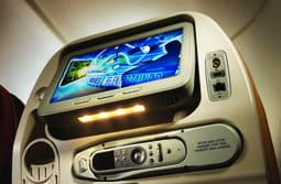 Singapore Airlines economy TV screen