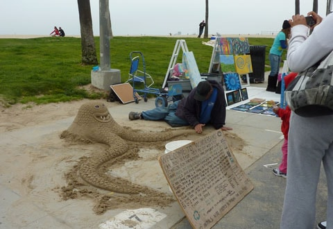 Sand sculpture Venice Beach