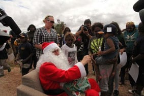 Santa on Indian Pacific