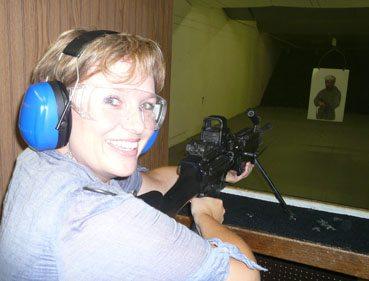 Fire machine guns in Vegas