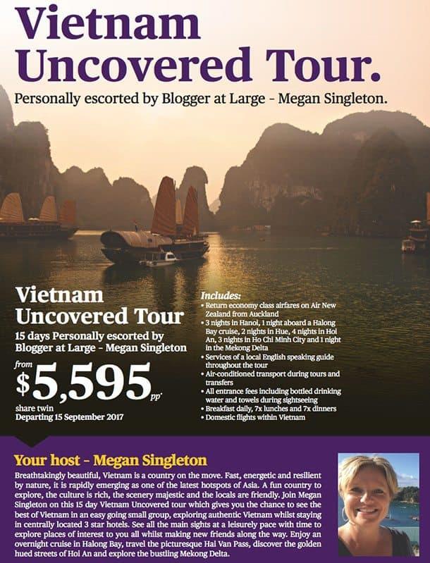 Escorted Vietnam tour brochure