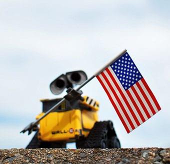 Wall-E US flag