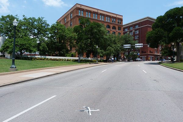 The spot where JFK was murdered