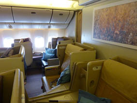 Singapore Airlines swanky A380 Business Class