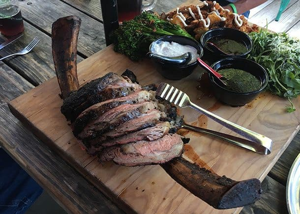 Bone in steak Texas
