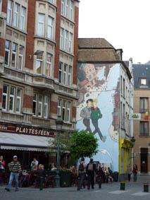 Brussels mural walls