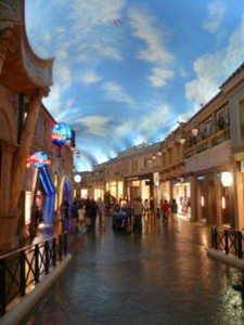 The indoor Forum Shops mall