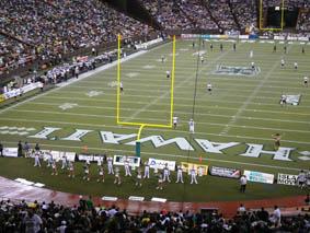 Packed out Aloha Stadium