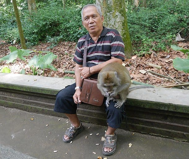 man with monkey ubud
