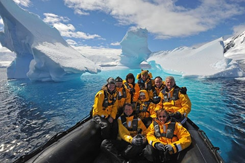 Zodiak in Antarctic