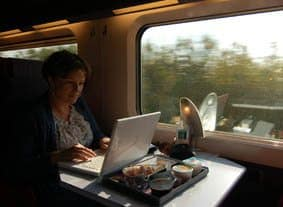 Blogging on train