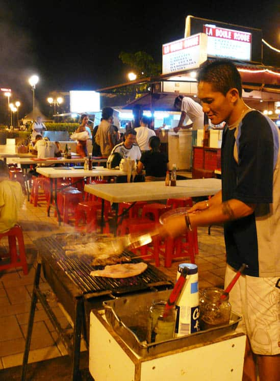 BBQ at the Papeete roulottes